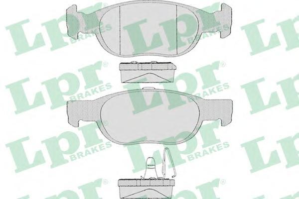 Комплект тормозных колодок, дисковый тормоз LPR 05P687