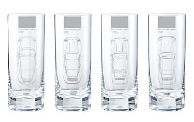 WAP0502600E PORSCHE Набор из 4-х стеклянных стаканов Porsche Long drink glass set