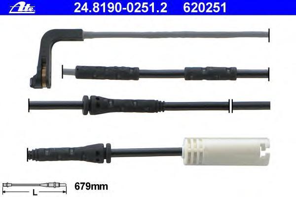 24819002512 ATE Сигнализатор, износ тормозных колодок