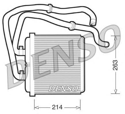 Теплообменник, отопление салона DENSO DRR12003