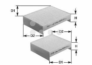 NC2302 CLEAN FILTER Фильтр, воздух во внутреннем пространстве