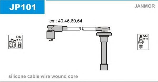 JP101 JANMOR Комплект проводов зажигания