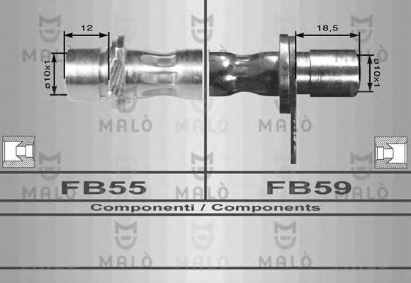 Тормозной шланг MALO 80129