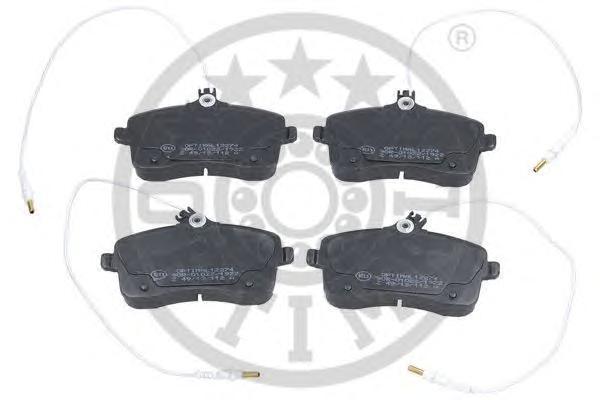 Колодки тормозные дисковые передние, комплект OPTIMAL 12274