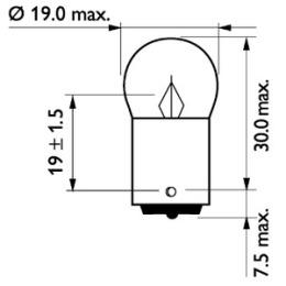 13821CP PHILIPS Лампа накаливания R5W 24V 5W (цена за 1 шт., мин. кол-во 10 шт.)