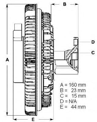LK053 BERU Сцепление, вентилятор радиатора