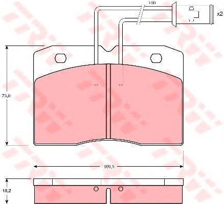 GDB1152 TRW Комплект тормозных колодок, дисковый тормоз