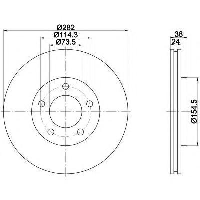 92153100 TEXTAR Тормозной диск