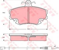 Комплект тормозных колодок, дисковый тормоз TRW GDB400