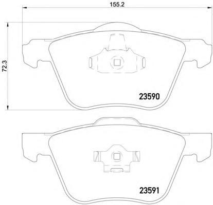 Комплект тормозных колодок, дисковый тормоз TEXTAR 2359001