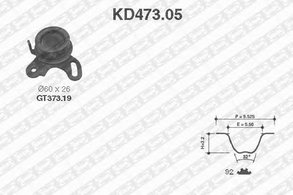 KD47305 NTN-SNR Комплект ремня ГРМ