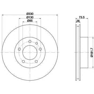 8DD355109821 BEHR-HELLA Тормозной диск