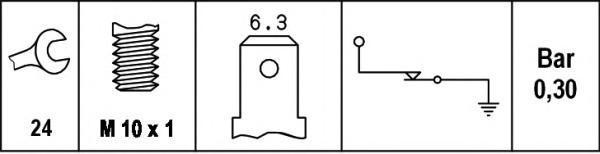 6ZL003259411 BEHR-HELLA Датчик давления масла