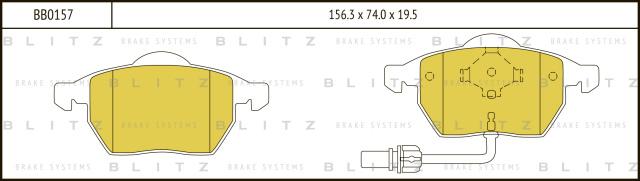 Колодки тормозные дисковые BLITZ BB0157
