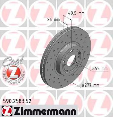 Тормозной диск ZIMMERMANN 590258352