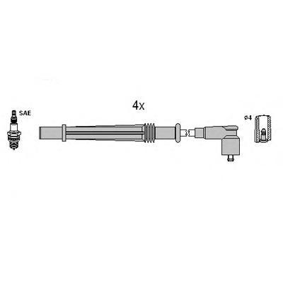Комплект проводов зажигания HUCO 134968