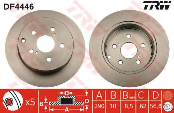 DF4446 TRW/LUCAS Тормозной диск