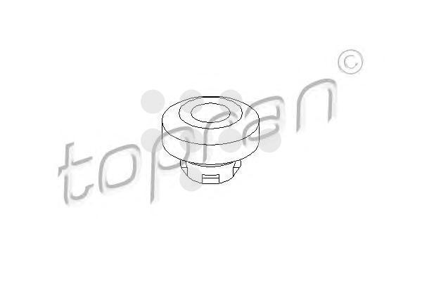 108029 HANS PRIES Подвеска, радиатор