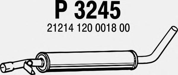 P3245 FENNO Средний глушитель выхлопных газов