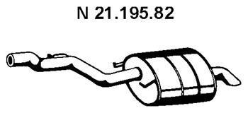Глушитель выхлопных газов конечный EBERSPACHER 2119582