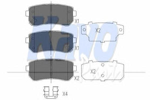 Комплект тормозных колодок, дисковый тормоз KAVO PARTS KBP4007