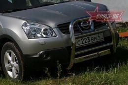 """Решетка передняя мини d 60 высокая """"Nissan Qashqai"""" 2007, шт NOVLINE NQSH550450"""