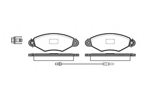 Комплект тормозных колодок, дисковый тормоз ROAD HOUSE 264301