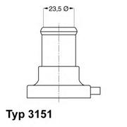 315187D WAHLER Термостат, охлаждающая жидкость