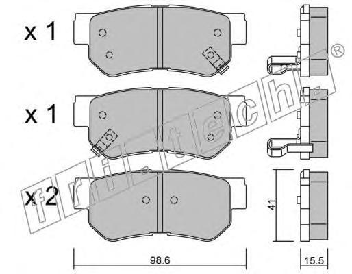 3740 FRI.TECH. Комплект тормозных колодок, дисковый тормоз