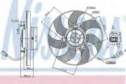 85680 NISSENS Вентилятор двигателя SKODA OCTAVIA (1Z) 85680