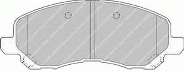 Комплект тормозных колодок, дисковый тормоз FERODO FDB1621