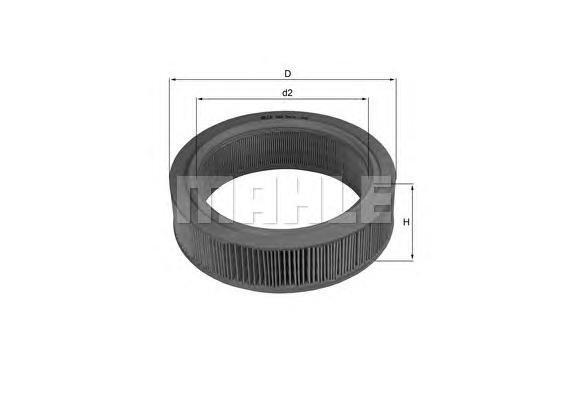 LX184 MAHLE/KNECHT Воздушный фильтр
