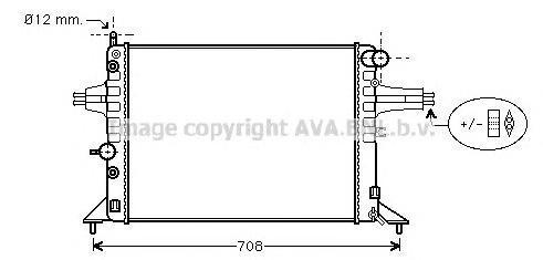 Радиатор охлаждения двигателя AVA OL2256