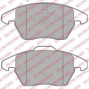 LP1904 DELPHI Комплект тормозных колодок, дисковый тормоз