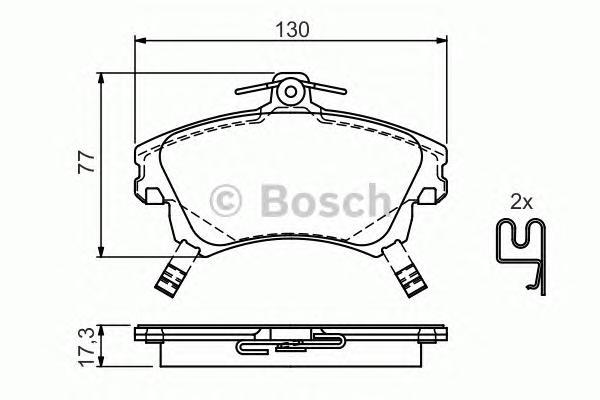 0986424541 BOSCH Комплект тормозных колодок, дисковый тормоз