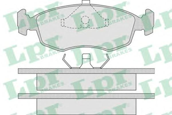 05P678 LPR Комплект тормозных колодок, дисковый тормоз