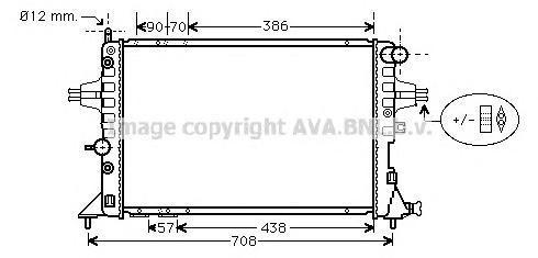 Радиатор охлаждения двигателя AVA OLA2253