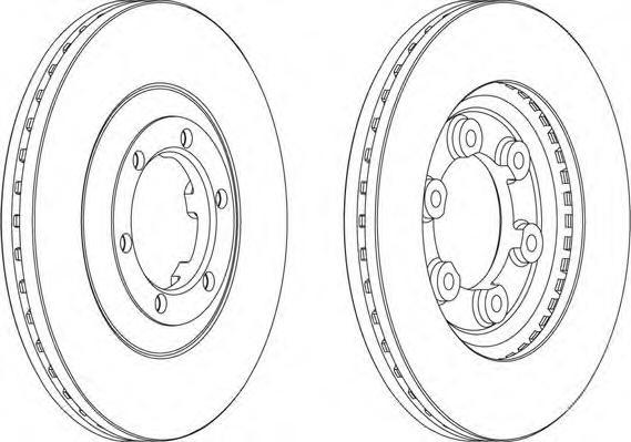 DDF693 FERODO Тормозной диск