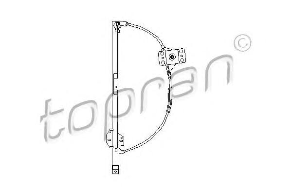 104098 TOPRAN Подъемное устройство для окон
