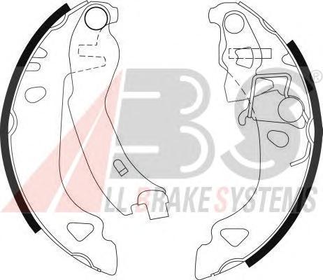8939 ABS Комплект тормозных колодок