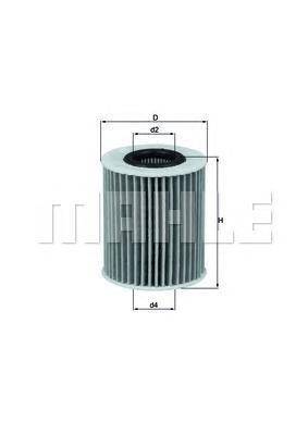 Масляный фильтр MAHLE OX413D1