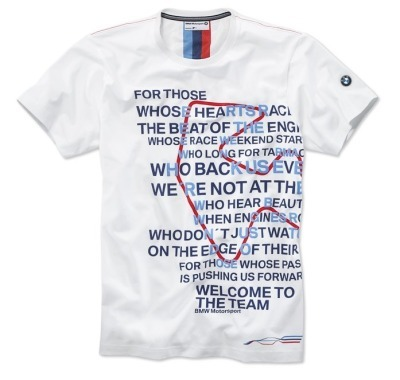 80142285825 BMW Мужская футболка BMW Motorsport Graphic T-Shirt размер: M