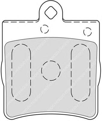 FDB1311 FERODO Комплект тормозных колодок, дисковый тормоз