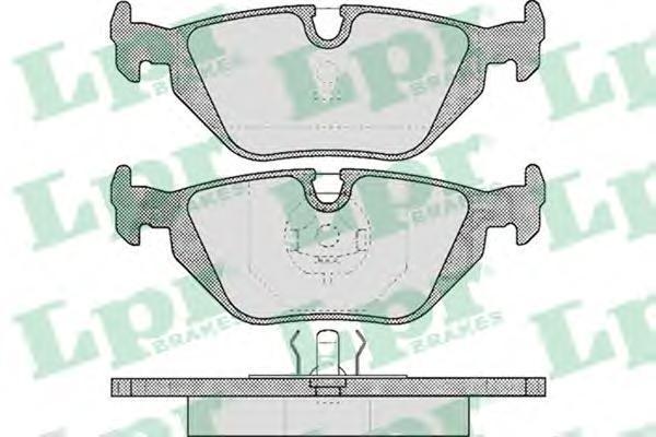 05P463 LPR/AP Комплект тормозных колодок, дисковый тормоз
