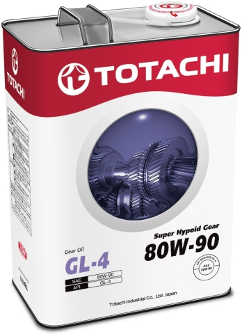 Масло трансмиссионное TOTACHI Super Hypoid Gear 80W-90  полусинтетика 4 л. API GL-4 TOTACHI 4562374691841