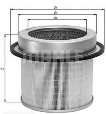 LX671 KNECHT Воздушный фильтр