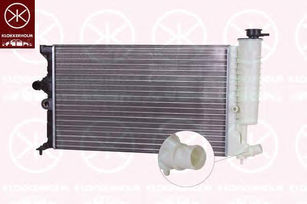 5536302104 KLOKKERHOLM Радиатор, охлаждение двигателя