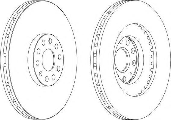 DDF1504 FERODO Тормозной диск