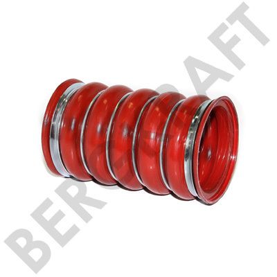 Шланг наддувочного воздуха D=80mm/L=140mm (красный) SCANIA 4-SERIES,BUS CP BERGKRAFT BK8710004