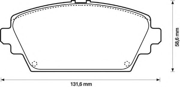 Комплект тормозных колодок, дисковый тормоз BENDIX 572428B